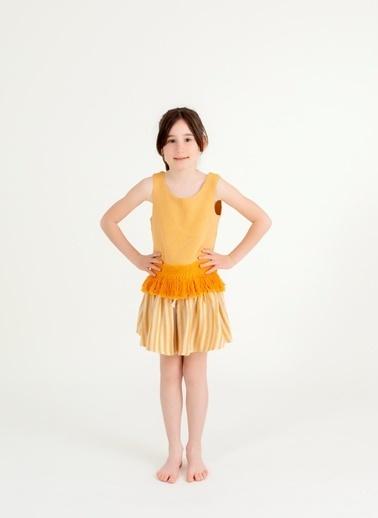 Pinolini Sırtı Püsküllü Üst Sarı